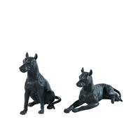 Theodore Alexander Dogs Anticipation pair of Table Top Accessories in Bronze 1021-640