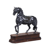 Theodore Alexander Horses Dressage Table Top Accessory in Medium Brown 1021-976