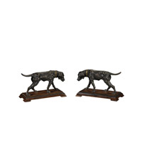 Theodore Alexander Dogs The Meet pair of Table Top Accessories in Medium Brown 1021-996