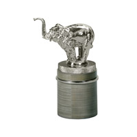 Theodore Alexander Elephants Stainless Triumphant Table Top Accessory in Grey 1029-016
