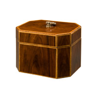 Theodore Alexander 1105-146 Octavia 8 X 6 inch Medium Brown Decorative Box