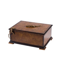 Theodore Alexander 1105-179 Basking Lizards 10 X 8 inch Light Brown Decorative Box
