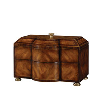Theodore Alexander 1105-236 Fancy Footwork 14 X 9 inch Medium Brown Decorative Box