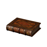 Old English House 11 X 8 inch Medium Brown Decorative Box