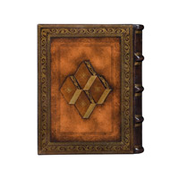 A Well Read Library Book 12 X 10 inch Medium Brown Decorative Box