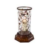 Essential Medium Brown Hurricane Candle Lamp