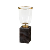 Theodore Alexander Kalahari Kenyan Twilight Hurricane Candle Lamp in Black 1334-002