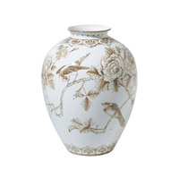 Theodore Alexander Rose Garden Vase in Sepia and White 1554-507