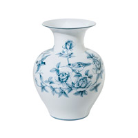 Theodore Alexander Bower Vase in Blue and White 1554-508