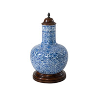 Theodore Alexander Dynasty Vase in Blue and White 1554-514
