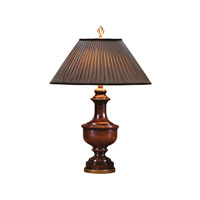 Theodore Alexander Delicate Pleating Table Lamp in Medium Brown with Russett Pleated Shade 2000-210