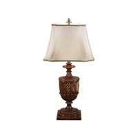 Fine Romanesque 43 inch 75 watt Medium Brown Table Lamp Portable Light