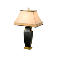 Essential 34 inch 75 watt Brass Table Lamp Portable Light