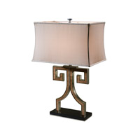 Vanucci Eclectics 29 inch 75 watt Walnut Veneered And Stainless Steel Table Lamp Portable Light