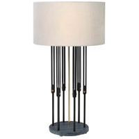 Theodore Alexander 2011-011 Fasten 36 inch Brass Table Lamp Portable Light photo thumbnail