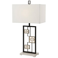 Theodore Alexander 2012-026 Polish 33 inch Soft Grey Painted Table Lamp Portable Light photo thumbnail