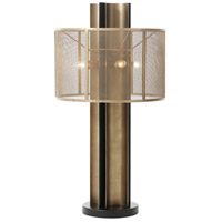 Sienna 28 inch Black and Bronze Table Lamp Portable Light