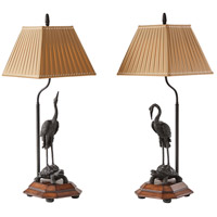 Indochine 33 inch 75 watt Medium Brown Table Lamps Portable Light
