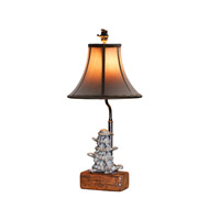 Heavenly Tortoises 23 inch 40 watt Antique Brass Table Lamp Portable Light