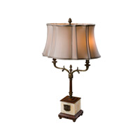 Sunburst 37 inch 40 watt Onyx and Mahogany Table Lamp Portable Light