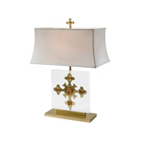 Trefoil Jewel 30 inch 75 watt Brass Table Lamp Portable Light