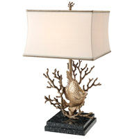Theodore Alexander Vanucci Eclectics Still Aquarium Table Lamp in Brass with Bronze Silk Shade 2021-865