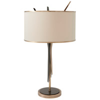 Dart 32 inch Antique Brass/Black Steel Table Lamp Portable Light