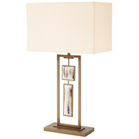 Sway 32 inch Aged Brass Table Lamp Portable Light