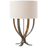 Theodore Alexander 2025-013 Lockland 29 inch Saw-mark Cast Aged Steel Table Lamp Portable Light