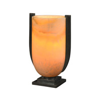 Theodore Alexander Vanucci Eclectics Art Deco Trophy Table Lamp in Cream with Onyx Shade 2040-088