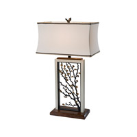 Theodore Alexander Spring Morning Table Lamp in Verdigris with Beige Linen Shade 2045-001