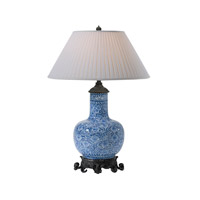 Dynastic 37 inch 75 watt Blue and White Table Lamp Portable Light