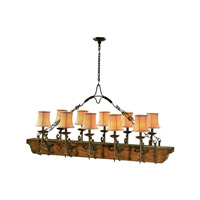 Castle Bromwich 10 Light 66 inch Medium Brown Chandelier Ceiling Light