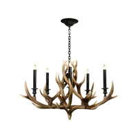 Stagworks 5 Light 40 inch Light Brown Chandelier Ceiling Light