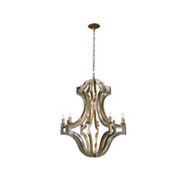 Vanucci Eclectics 10 Light 33 inch Brass Chandelier Ceiling Light