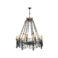 Theodore Alexander Castle Bromwich The Provencale Chandelier Chandelier in Black 2311-002
