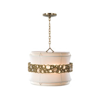 Waisted Sparkle 3 Light 19 inch Brass Chandelier Ceiling Light