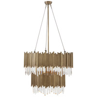 Theodore Alexander 2321-102 Tyrol 4 Light 30 inch Vintage Brass Chandelier Ceiling Light