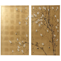 Theodore Alexander 3202-361 Spring Magnolias 56 X 50 inch Paintings, Set of Two