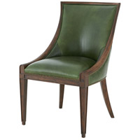 Stockton II Aged Pecan Scoop Back Chair Home Decor