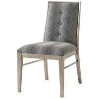 Linden Hand Leafed Brushed Pewter Dining Chair