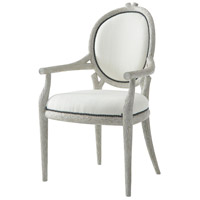 Claude Chalk Grey Armchair Home Decor