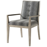Linden Hand Leafed Brushed Pewter Dining Armchair