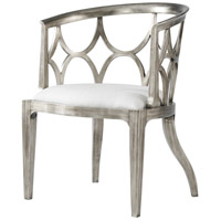 Connaught Pewter Silver Leaf Accent Chair Home Decor