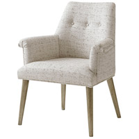 Troy Brushed Pewter Dining Armchair