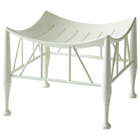 Hayward II Eggshell White Stool Home Decor