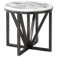 Theodore Alexander 5000-638 Buda 26 X 26 inch Hand Painted Faux Horn Tiled Accent Table