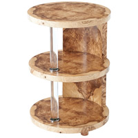Terrace 18 inch Olive Ash Burl Veneer Accent Table Home Decor