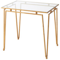 Ariel 26 inch Gilt Steel Accent Table Home Decor