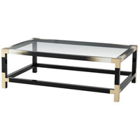 Cutting Edge 54 X 34 inch Black And Faux Horn Cocktail Table